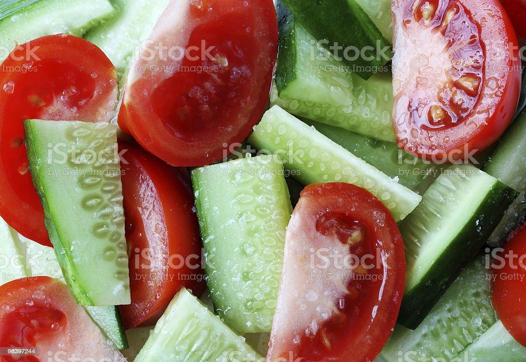 Pomodori e cetrioli foto stock royalty-free