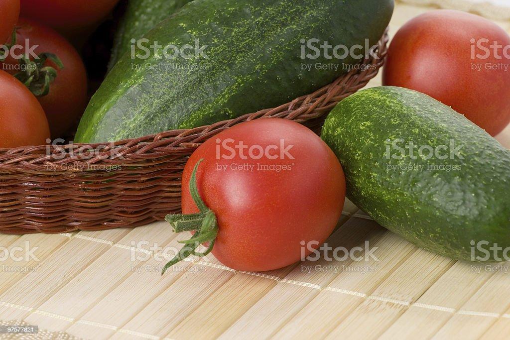Tomates et de concombres photo libre de droits