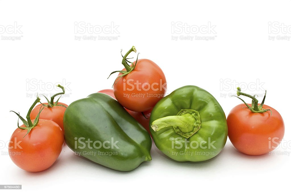 Tomatoes and sweet pepper. royalty-free stock photo