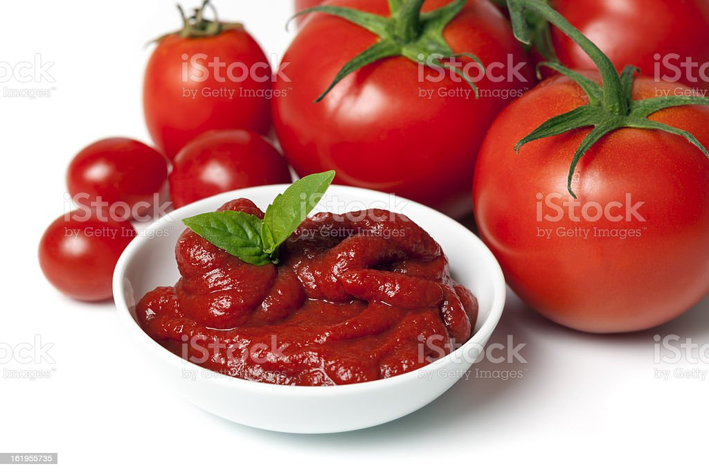 Tomatoes and Tomato Puree stock photo