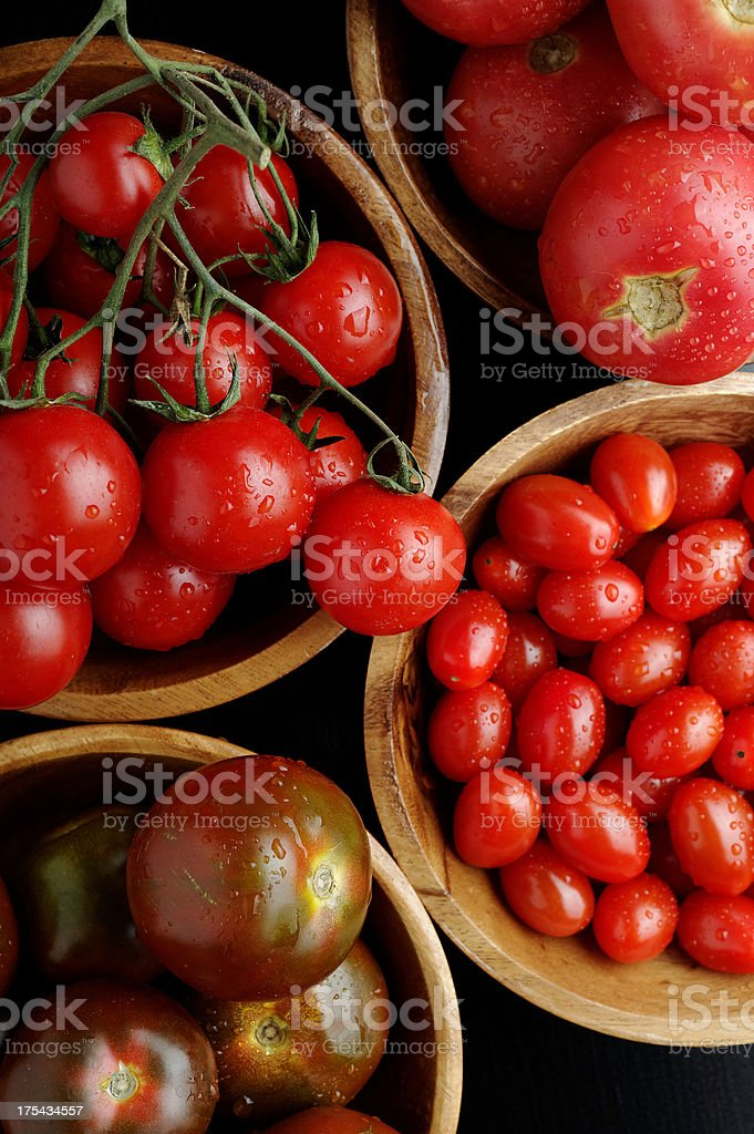 Tomatoes assortment stock photo