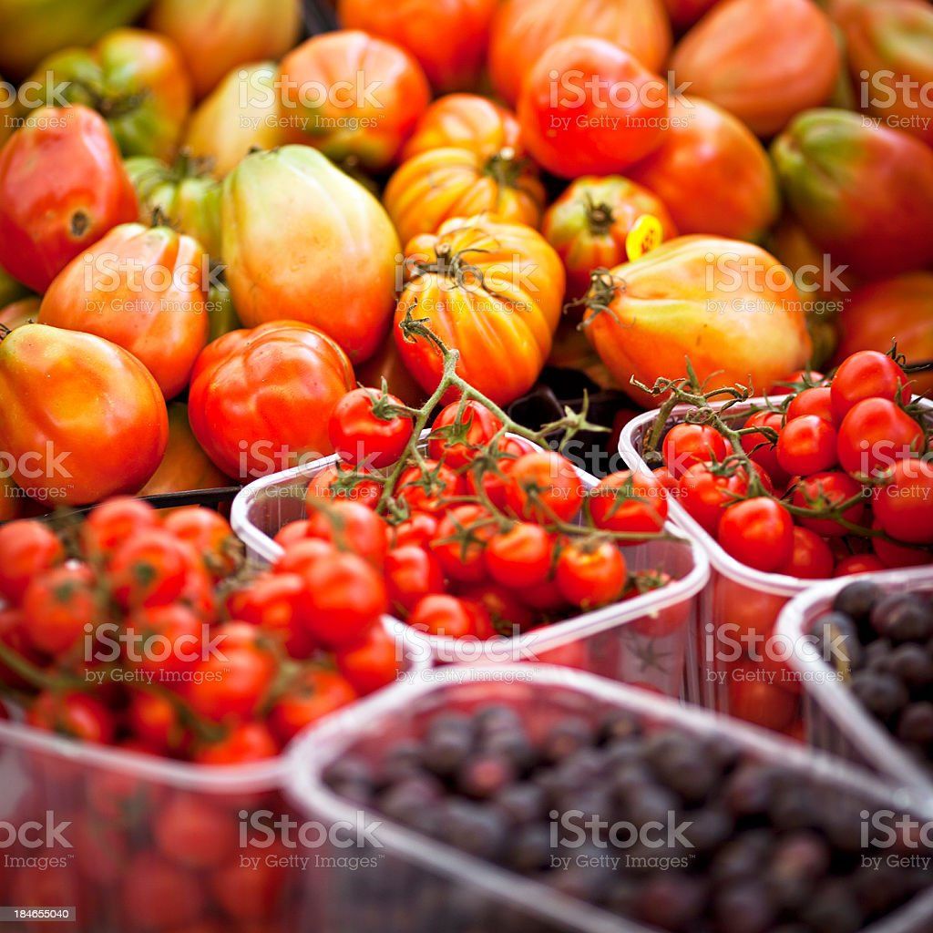 tomatoes at the farmers market royalty-free stock photo