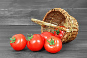 istock Tomatoes in a basket 970271544