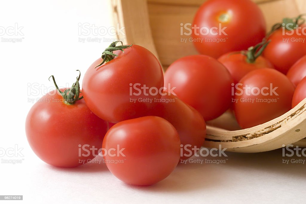 Tomatoes in a Basket royalty-free stock photo