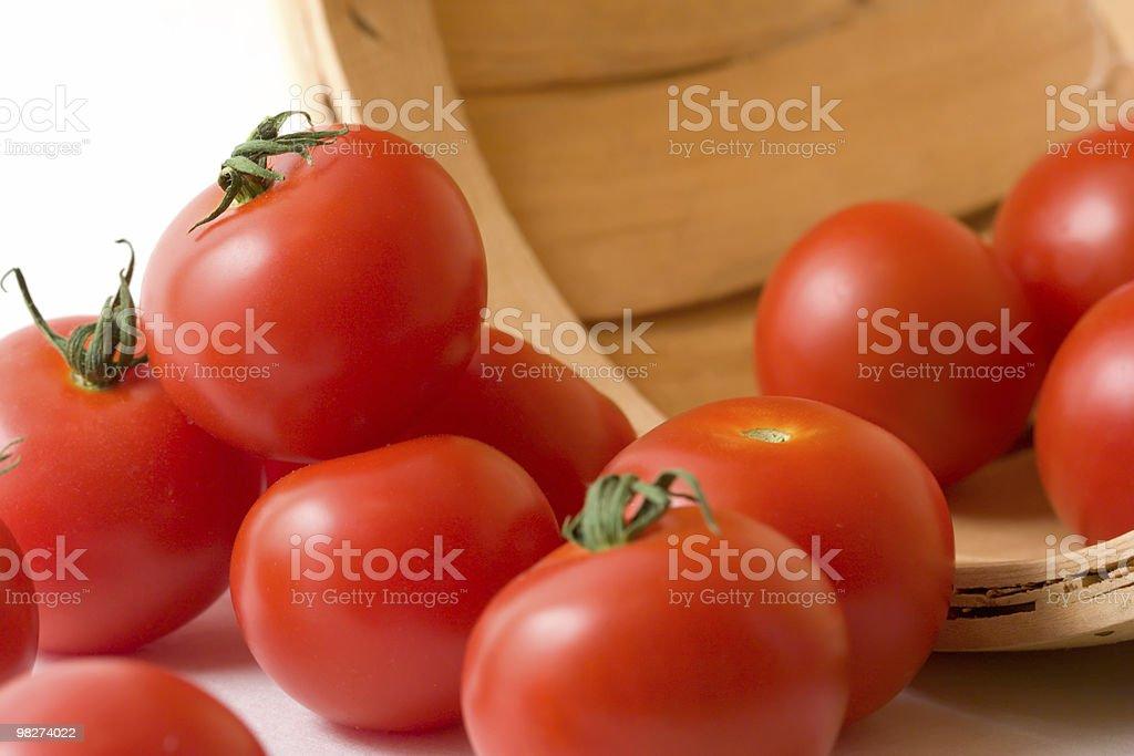 토마토를 바스켓에 royalty-free 스톡 사진