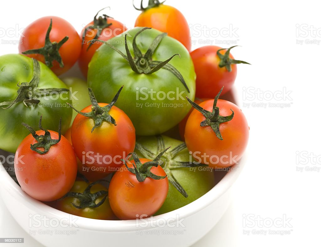 Tomatoes in bowl royalty-free stock photo