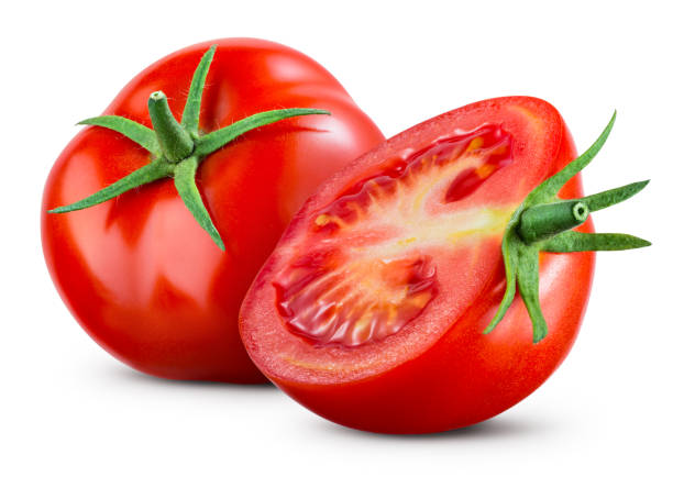 Tomatoes isolate on white background. Tomato half isolated. Tomatoes side view. Whole, cut, slice tomatoes. Clipping path. Tomatoes isolate on white background. Tomato half isolated. Tomatoes side view. Whole, cut, slice tomatoes. Clipping path. tomato stock pictures, royalty-free photos & images