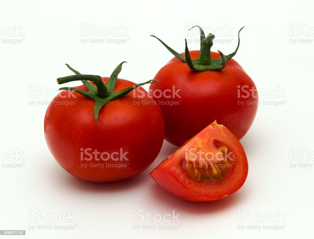 tomatoes isolated on the white background stock photo