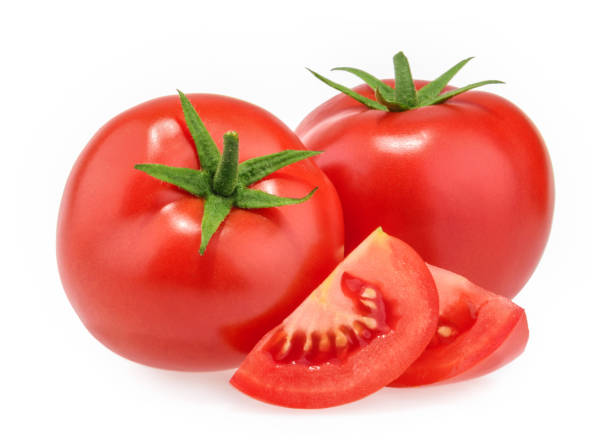 Tomatoes isolated on white background stock photo
