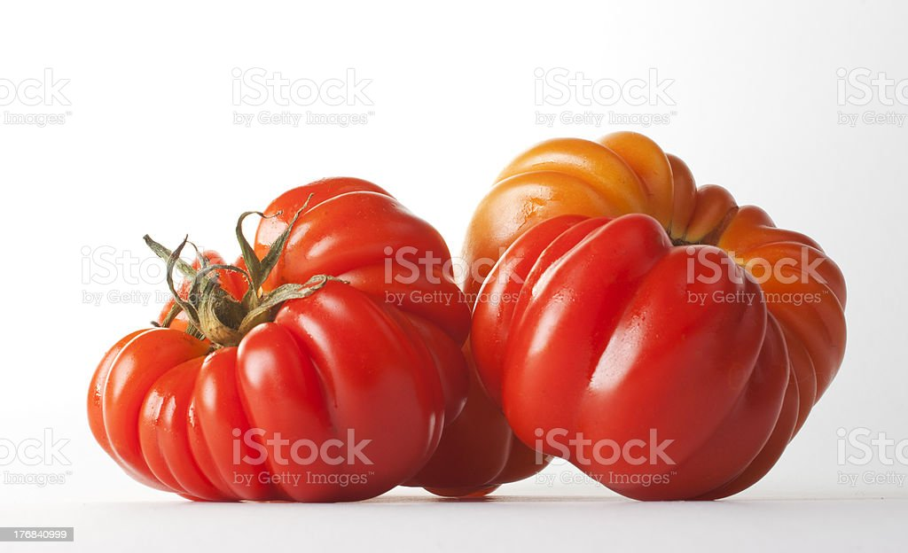 Tomatoes, isolated on white stock photo