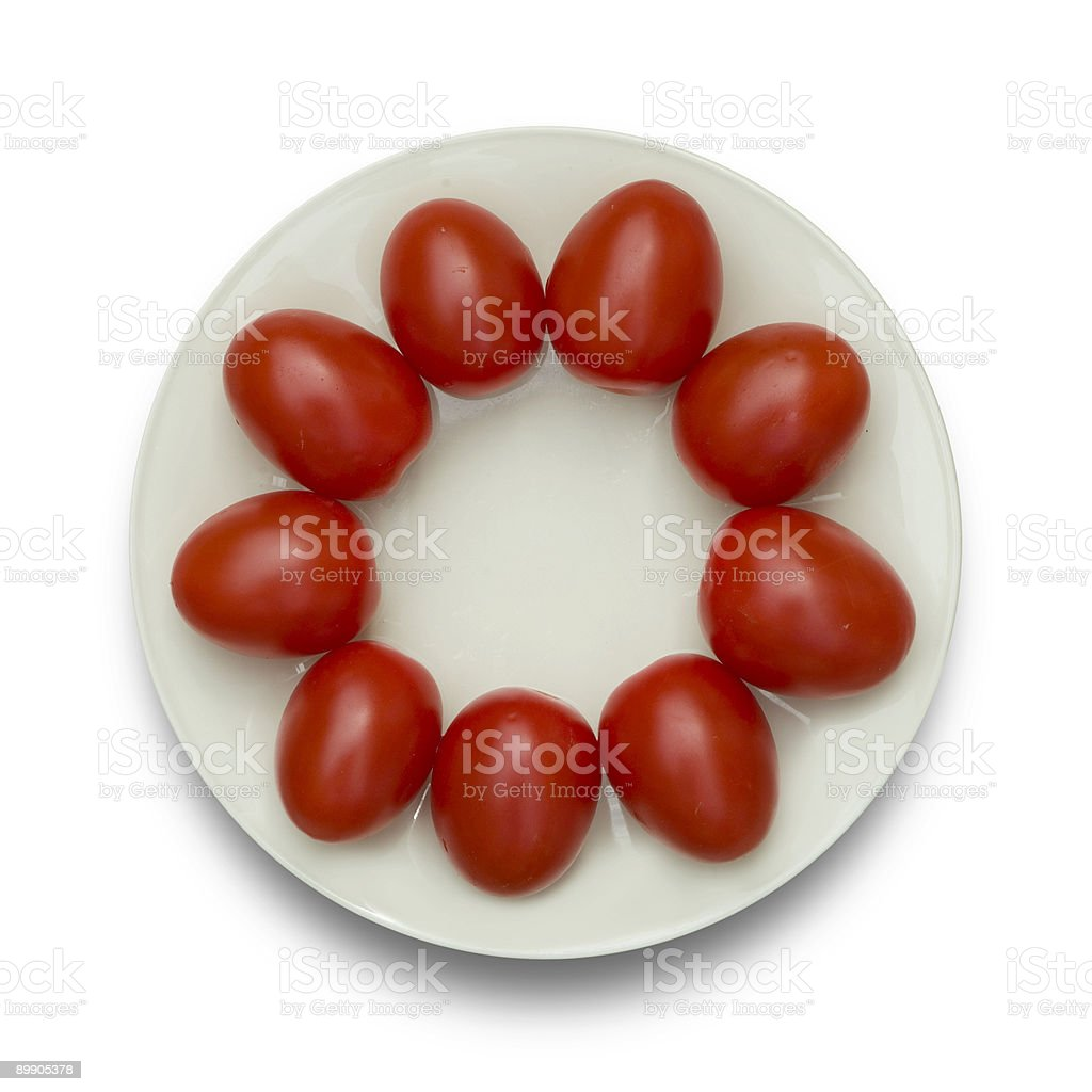tomatoes on a dish royalty-free stock photo