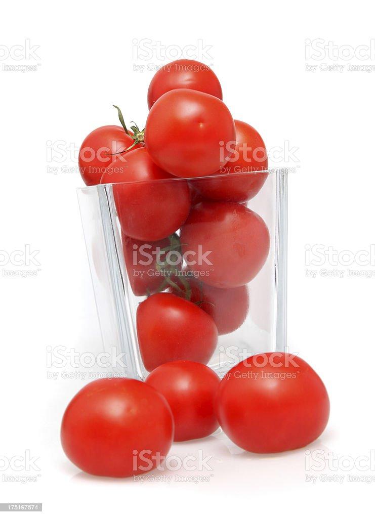 Tomatoes on white royalty-free stock photo