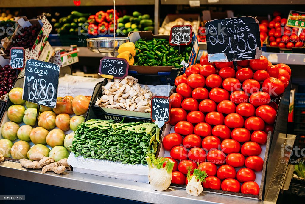 Tomatoes, Pea Pods And Other Agricultural Products Of Local Farm stock photo