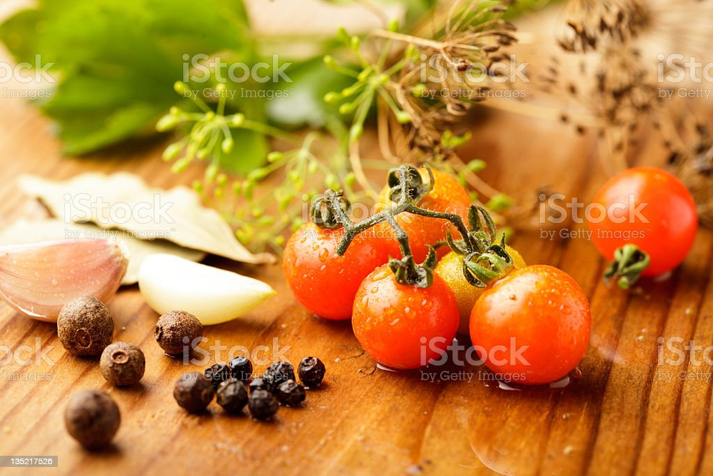 Tomatoes preserves royalty-free stock photo