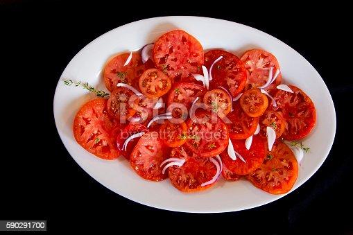 Tomatoes Salad-foton och fler bilder på Basilika - Ört