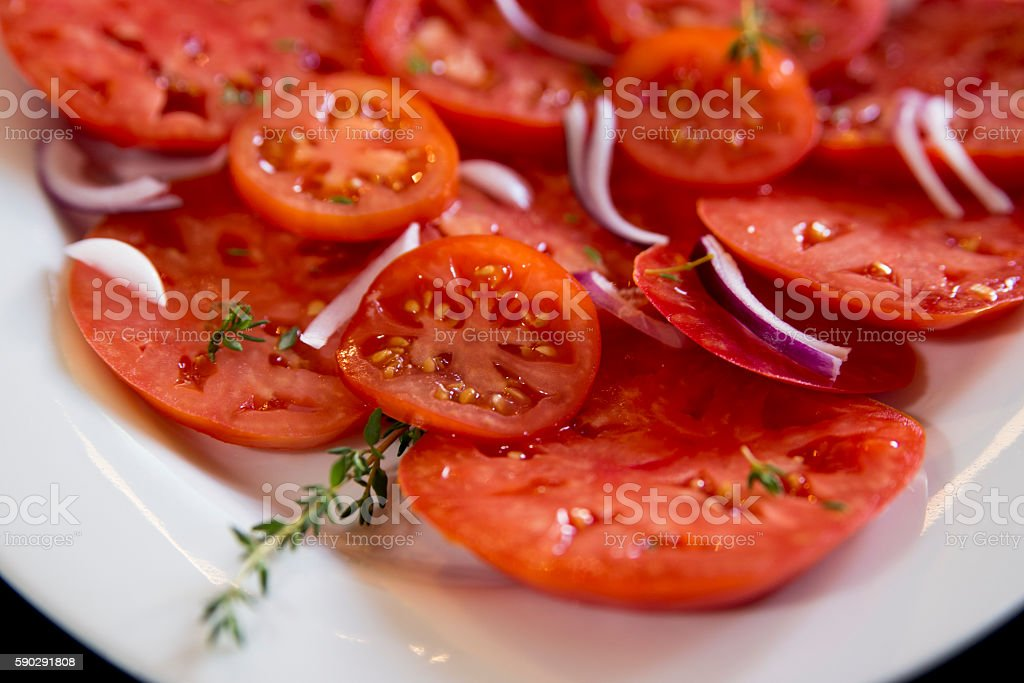 Салат с помидорами Стоковые фото Стоковая фотография