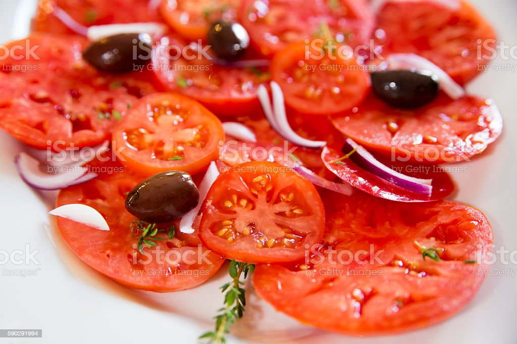 Tomatoes salad royaltyfri bildbanksbilder