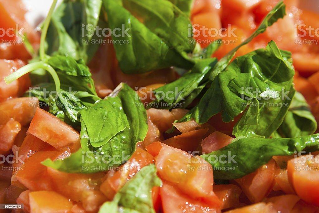Insalata di pomodori foto stock royalty-free