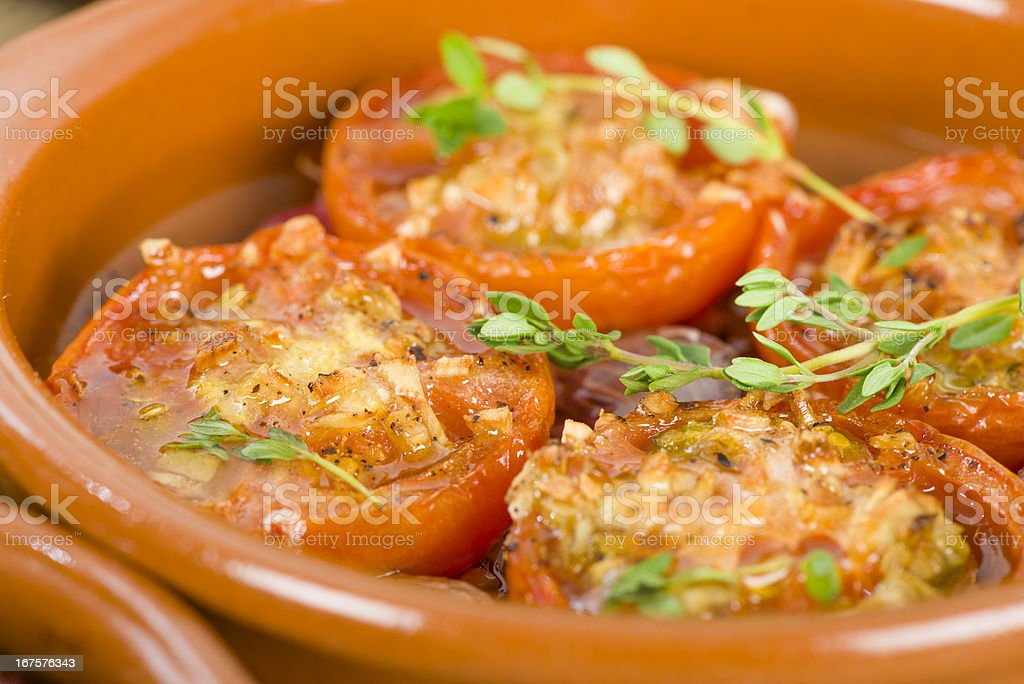 Tomates al Ajillo royalty-free stock photo