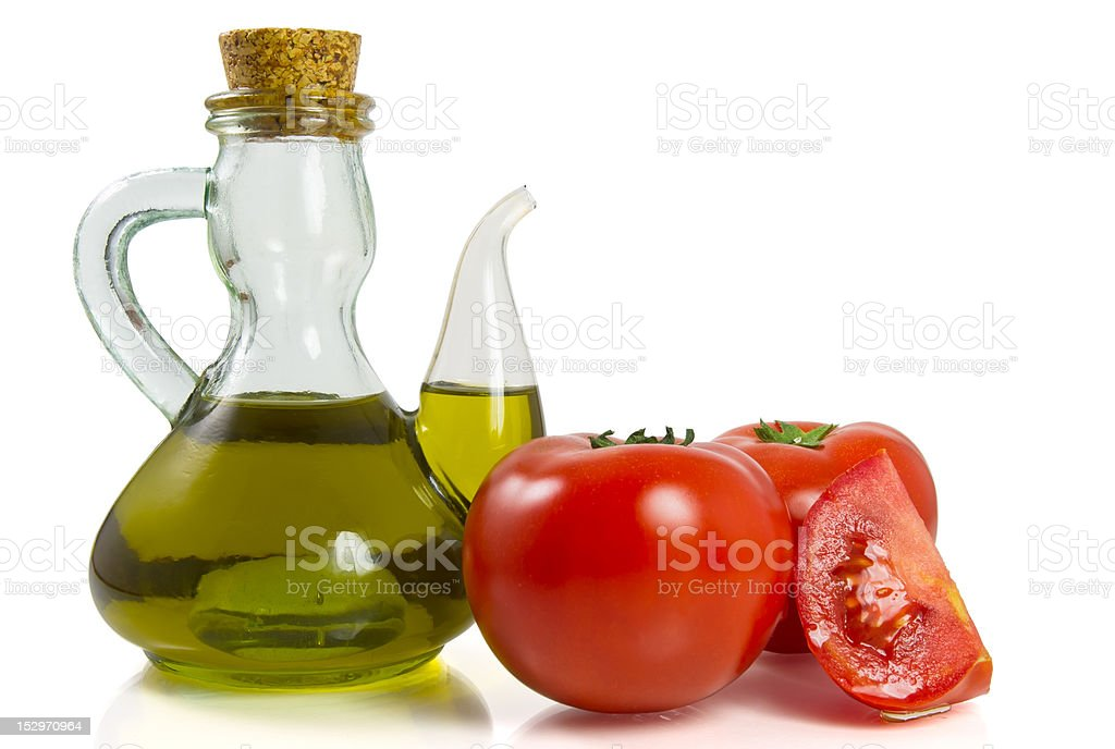 Tomatoes with oil royalty-free stock photo