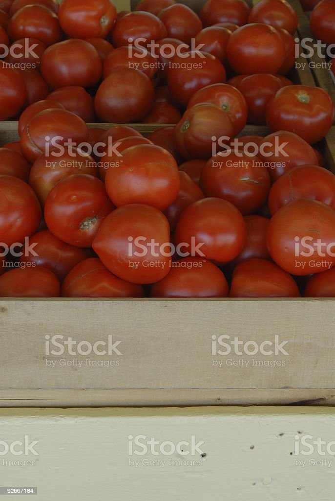 Tomatoes with Text Area royalty-free stock photo