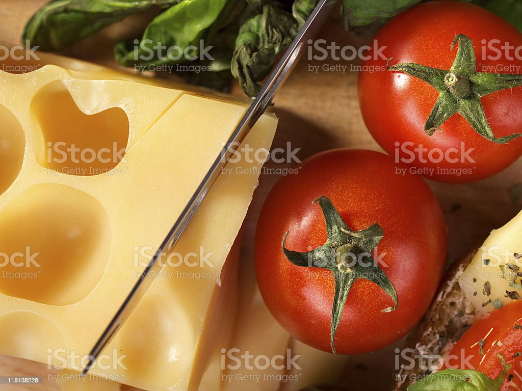 Tomatos and cheese royalty-free stock photo