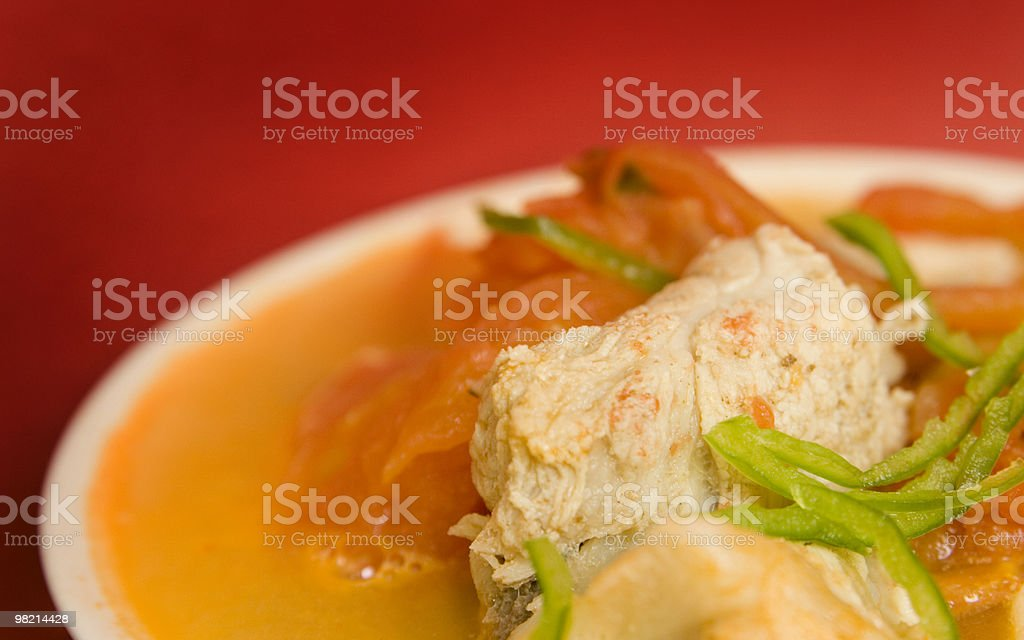 Tomatos and chops soup royalty-free stock photo