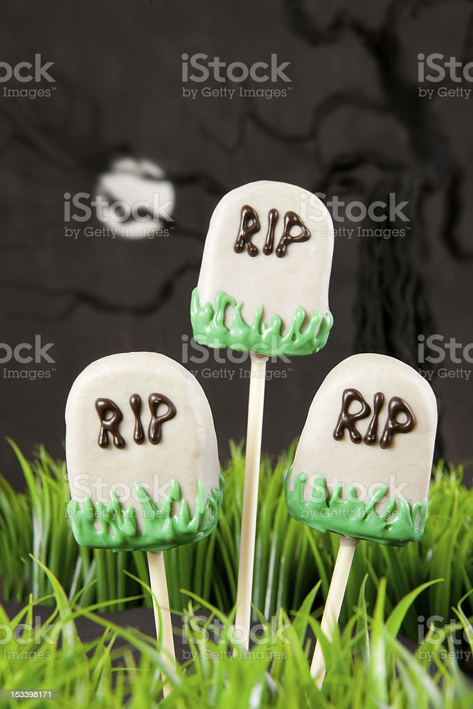 Tomb cake pops stock photo
