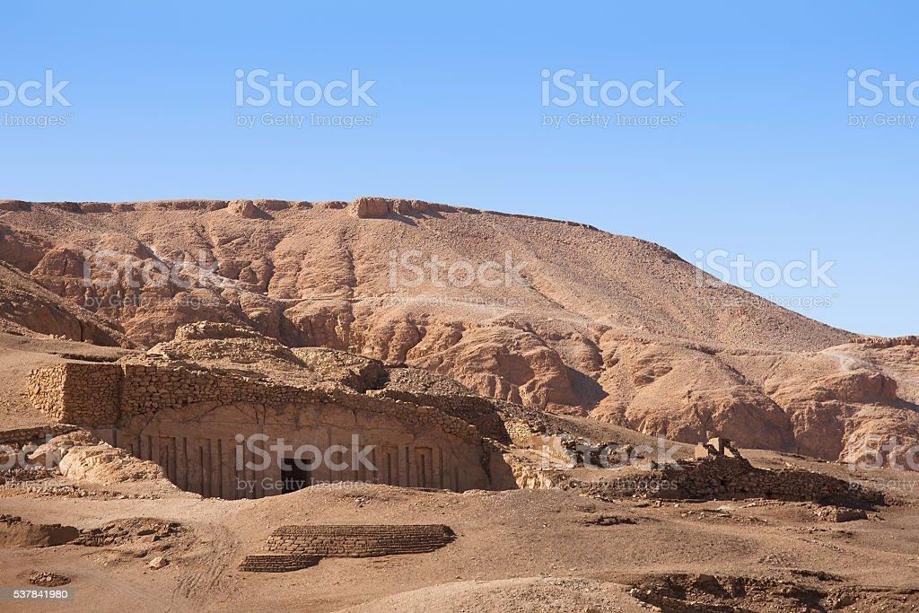 tomb desert landskape stock photo