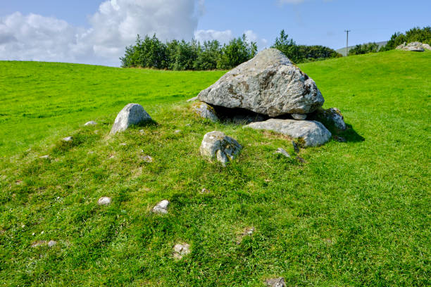 Tomb in the Carrowmore Megalithic Cemetery, County Sligo, Ireland. Tomb in the Carrowmore Megalithic Cemetery, County Sligo, Ireland. It is one of the most important megalithic complexes in the country. portal dolmen stock pictures, royalty-free photos & images