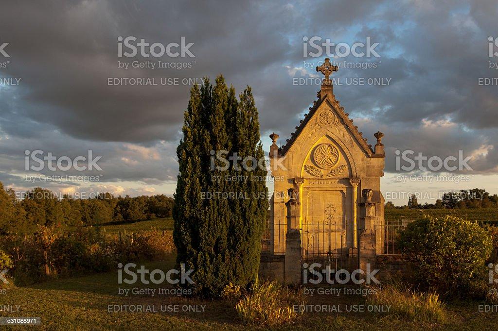 Tomb near Saint Emilion stock photo
