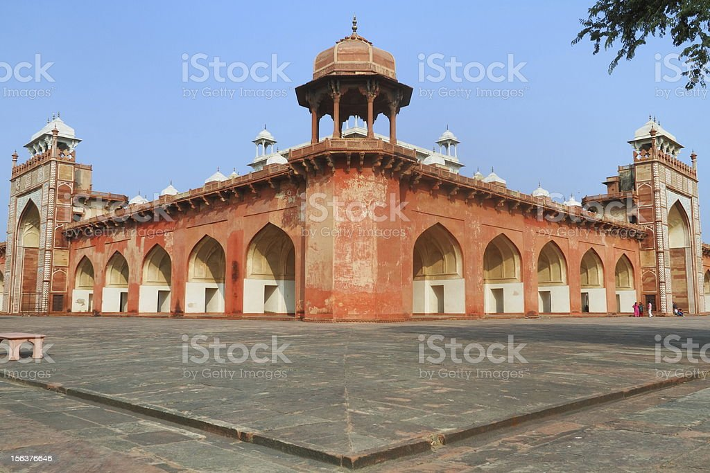 Tomb Of Akbar,Sikindrabad stock photo