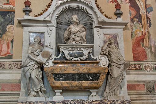 Tomb of Galileo Galilei in Basilica di Santa Croce, Florence