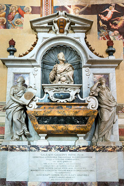 Tomb of Galileo Galilei in the Santa Croce in Florence Tomb of Galileo Galilei in the Basilica of Santa Croce in Florence, Italy galileo galilei stock pictures, royalty-free photos & images