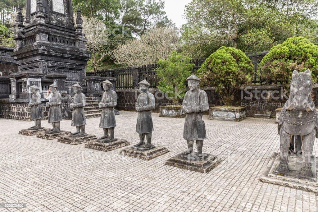 Tomb of Khai Dinh emperor in Hue, Vietnam. A UNESCO World Heritage Site stock photo