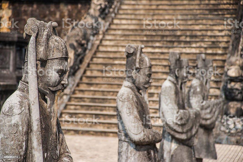 Tomb of Khai Dinh emperor in Hue, Vietnam stock photo