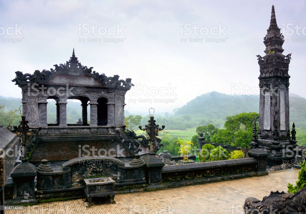 Tomb of Khai Dinh, Hue stock photo