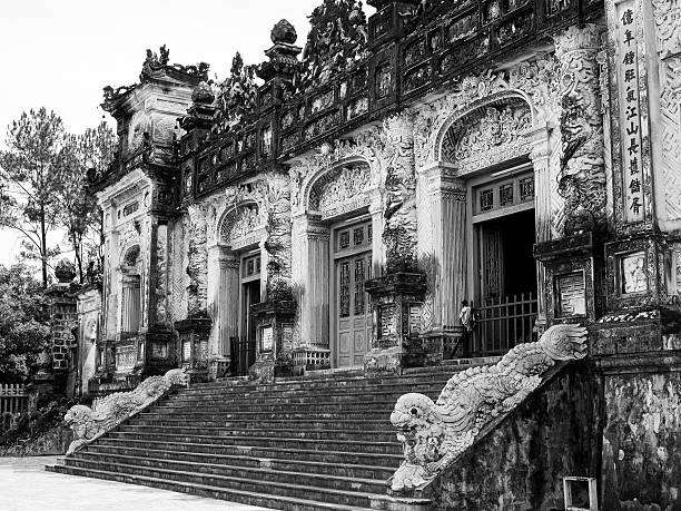Tomb of Khai Dinh Tomb of Khai Dinh is a part of Unesco's world heritage sites in Vietnam. khai dinh tomb stock pictures, royalty-free photos & images