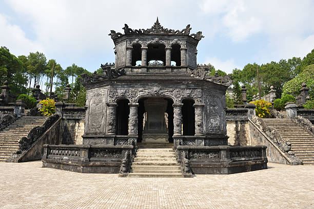 "Tomb of Khai Dinh ""Tomb of Khai Dinh ,A part of world heritage site in Hue city , Vietnam."" khai dinh tomb stock pictures, royalty-free photos & images"