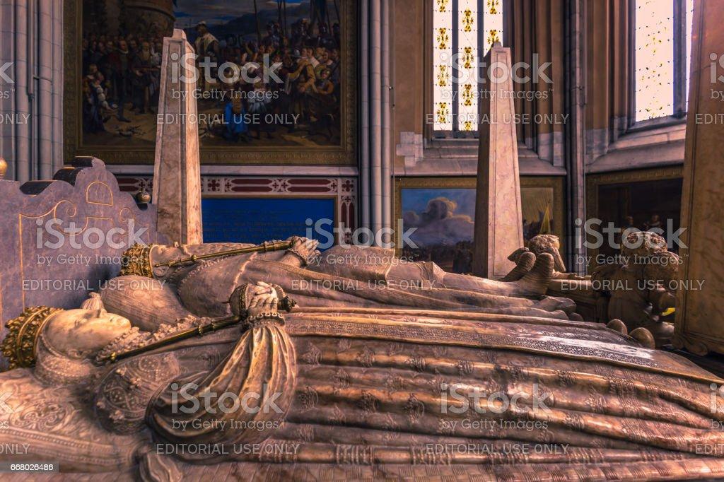 Uppsala - April 08, 2017 : Tomb of King Gustav Vasa in the cathedral of Uppsala, Sweden stock photo
