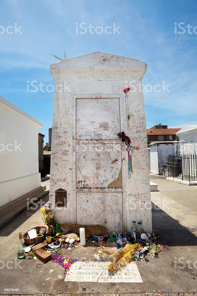 Tomb of Marie Laveau in New Orleans stock photo