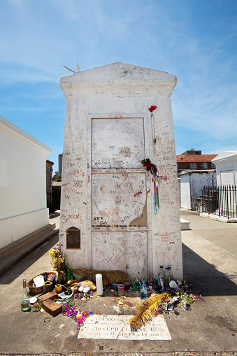 Tomb Of Marie Laveau In New Orleans Stock Photo - Download ...