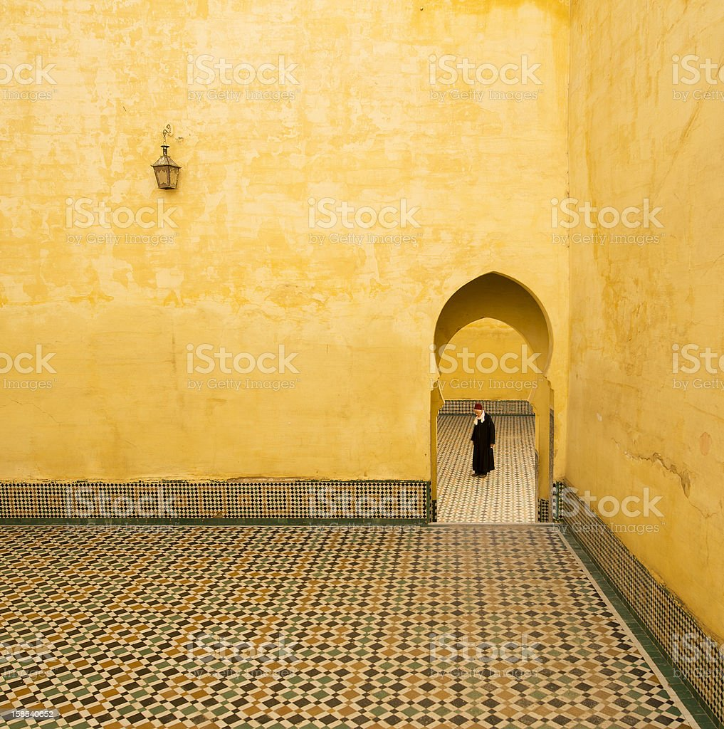Tomb of Moulay Ismail Meknes royalty-free stock photo