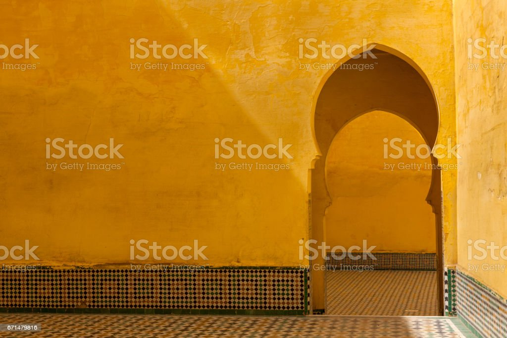 Tomb of Moulay Ismail stock photo