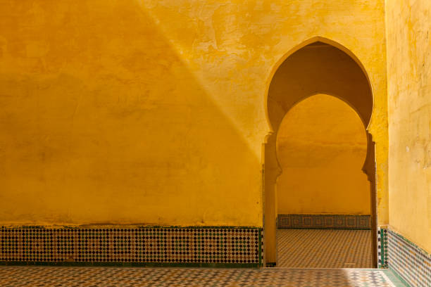 tomb of moulay ismail - north africa stock photos and pictures