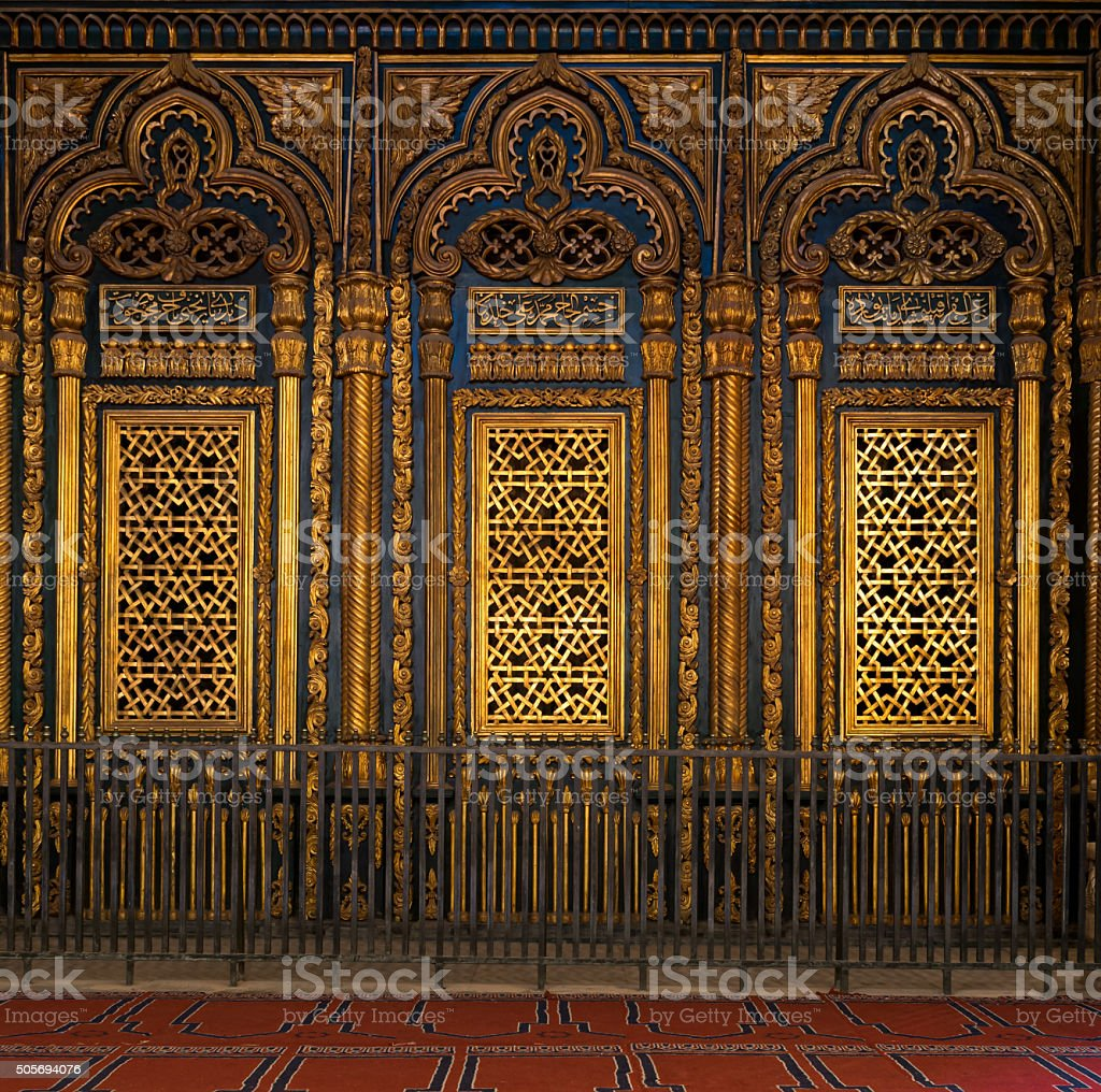 Tomb (Shrine) of Muhammad Ali Pasha, Cairo Citadel stock photo