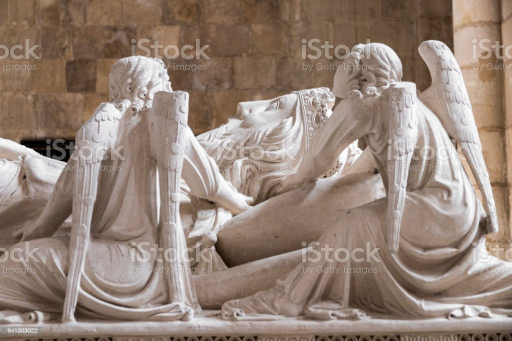 Tomb of Peter I of Portugal stock photo