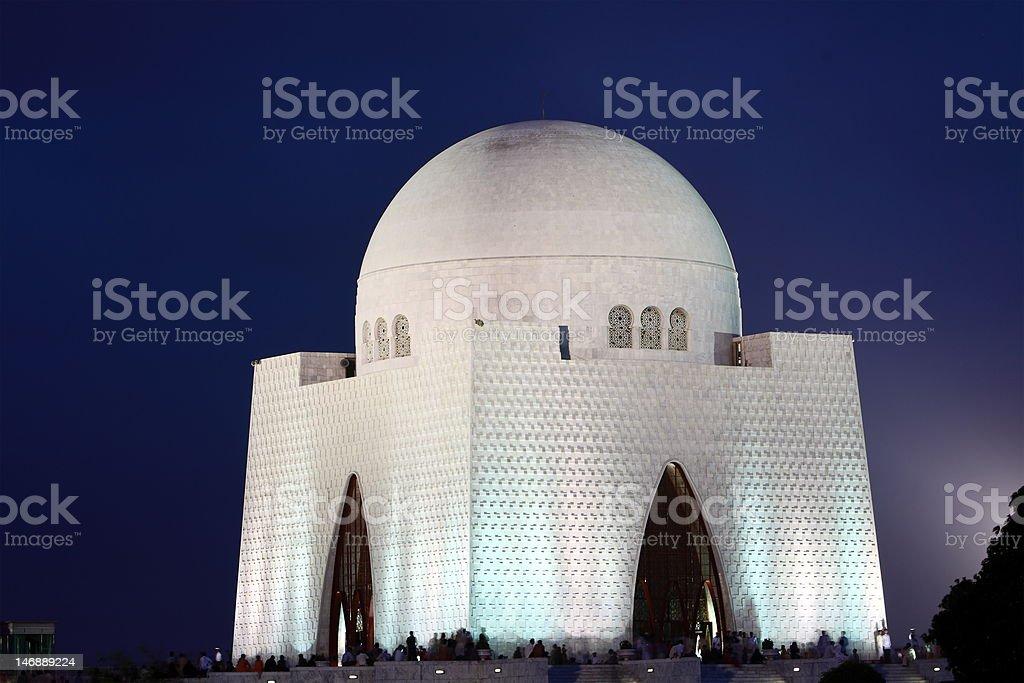 Tomb of Quaid-e-Azam Mohammed Ali Jinnah royalty-free stock photo