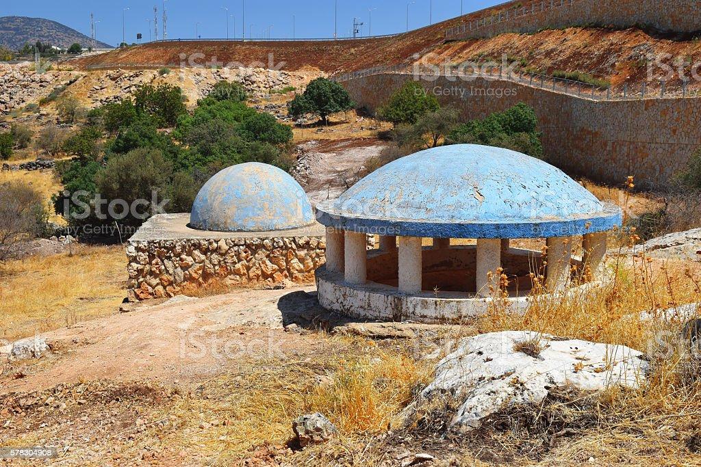 tomb of Rabbeinu Behaye near Kadarim in the Galilee, Israel stock photo