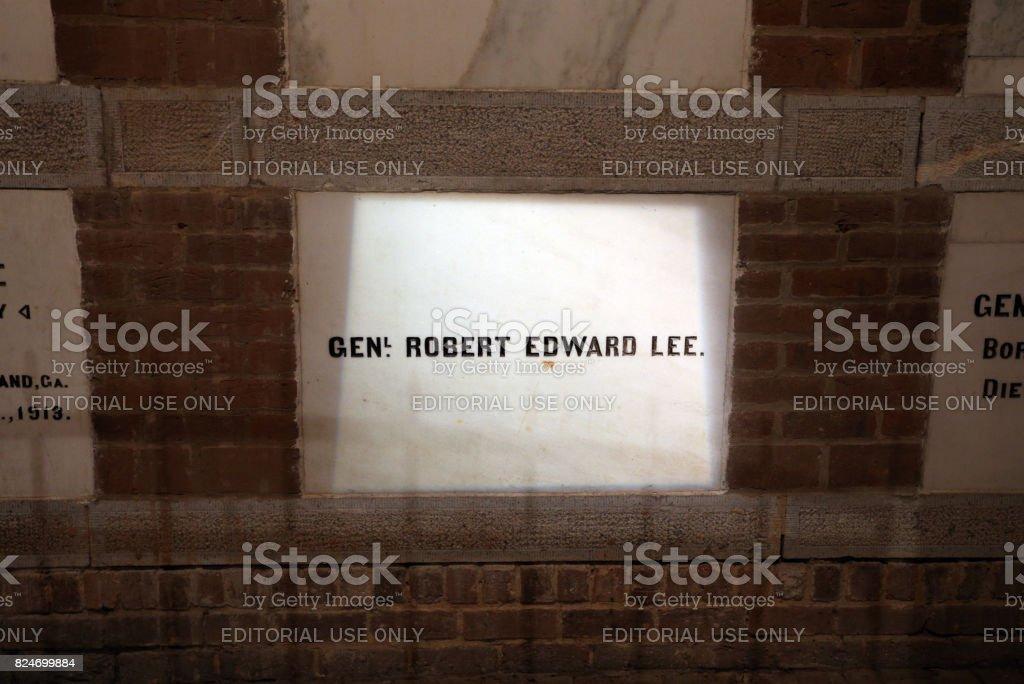Tomb of Robert E. Lee stock photo